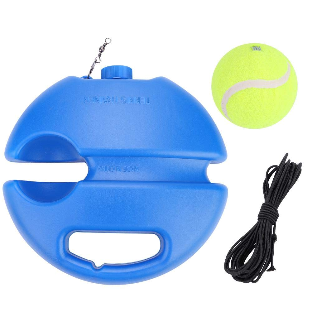 Tennis Trainer Power Base Rebound Ball Set Solo Practice Equipment Training Aid Self-study Practice Training Tool with A Rope Sport Exercise Partner Baseboard for Kids and Beginner with 1 Ball