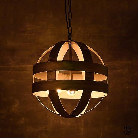 Amazon grh vintage industrial round iron chandelier nordic grh vintage industrial round iron chandelier nordic creative arts loft lamp chandelier bar restaurant aloadofball Images