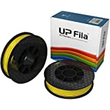 UP Fila C-21-05 ABS Plastic Filament, Yellow, 2 x 500 g Rolls (Pack of 2)
