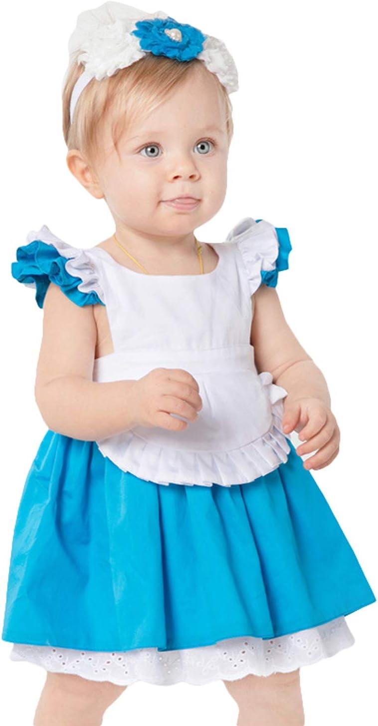LOLANTA Disfraz de Alicia para Baby Wonderland Disfraz de Princesa ...