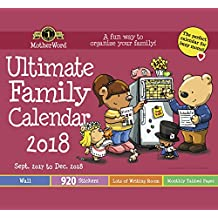 MotherWord DDTB11-28 Ultimate Family 16-Month Calendar, Small Wall Tabbed Version, Sept 2017-Dec 2018, English, 12x21-1/2""