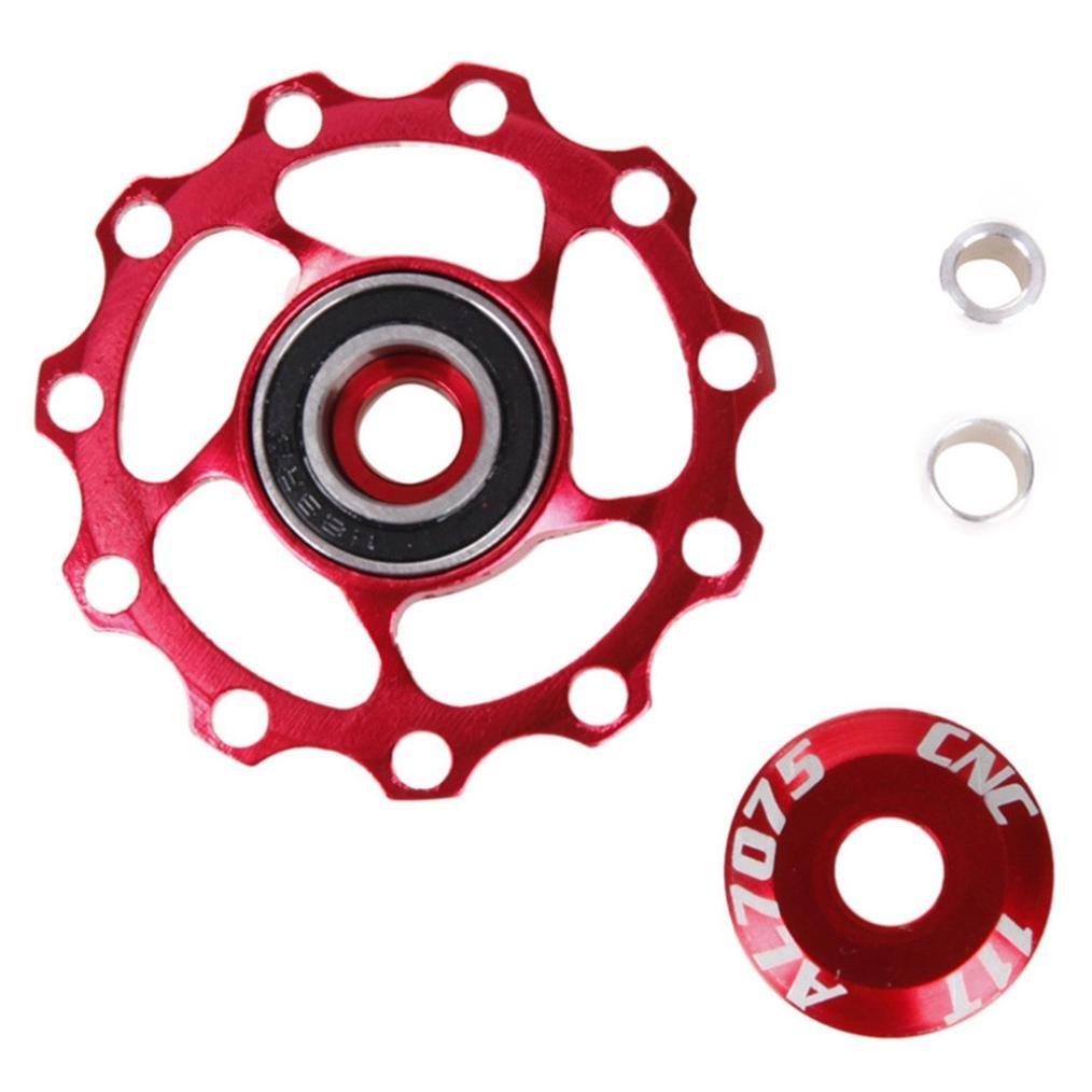 bescita 11T Aluminium Roue jockey V/élo arri/ère Roulement D/érailleur arri/ère Poulie roue de guidage en tension