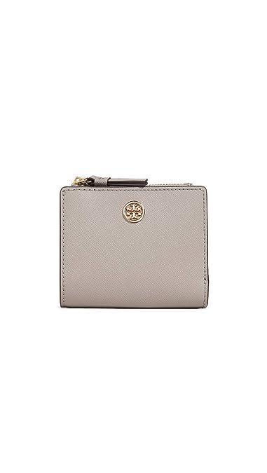 e4291f9e071 Amazon.com: Tory Burch Women's Robinson Mini Wallet, Grey Heron, One ...