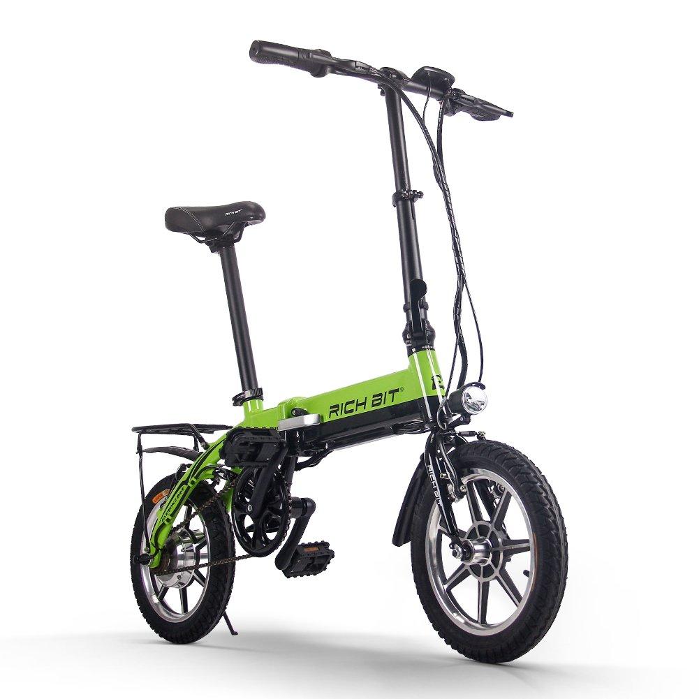 Foldable Bicycle 折りたたみ 電動アシスト自転車 14インチ 618 公道で走ることができます(海外メーカー直送品) B07CTFGL22グリーン