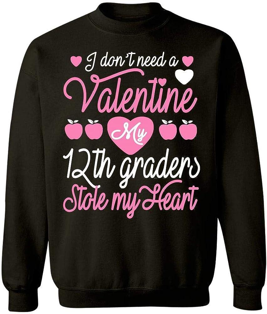 My 12th Graders Stole My Heart Sweatshirt Eternally Gifted 12th Grade Teacher Valentine