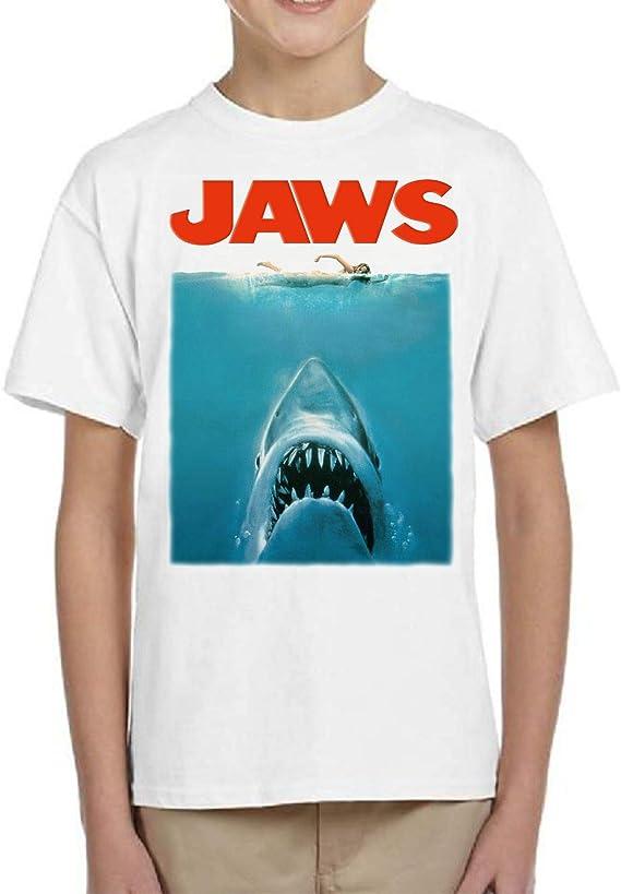 Camiseta de NIÑOS Varios Peliculas Divertidas Retro Tiburon Shark Jaws 017