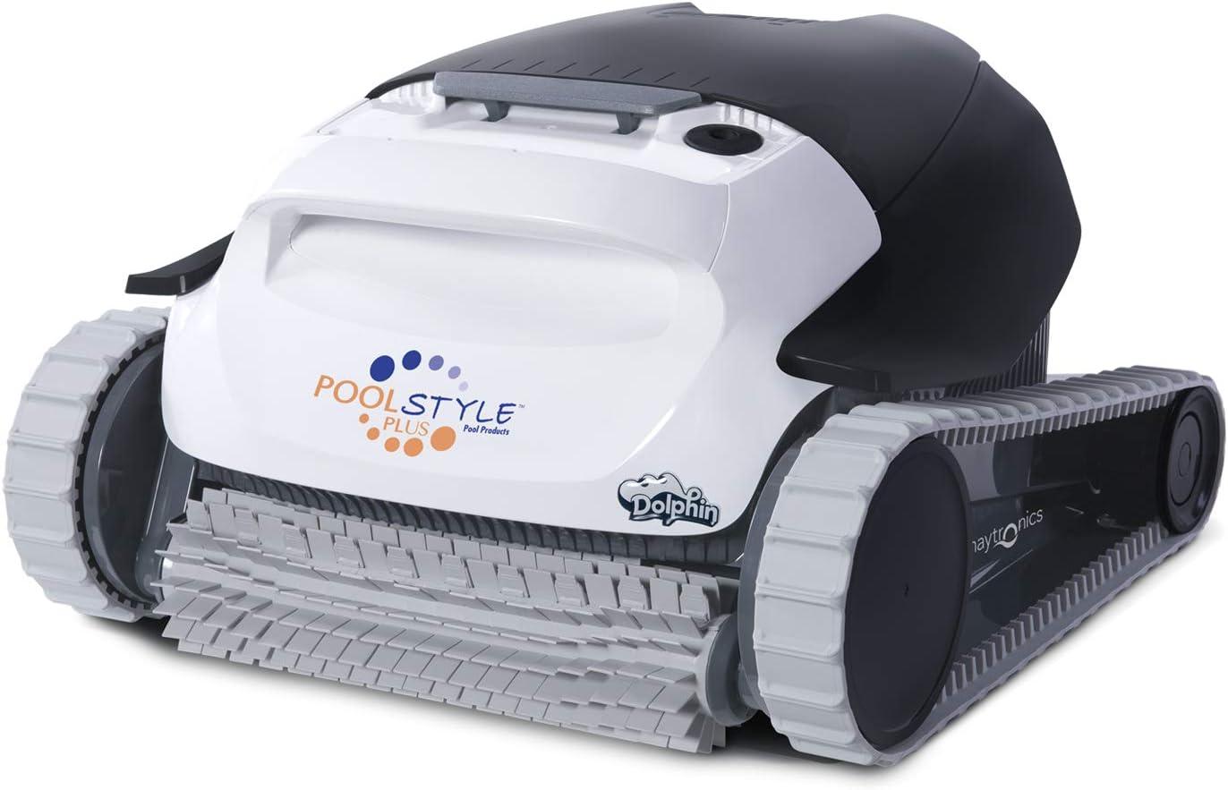 Maytronics Robot limpiafondos automático Dolphin PoolStyle Plus Limpiafondos portátil, Ligero y fácil de Limpiar. Ideal para Piscinas elevadas.