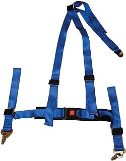 Racing Seat Belt 3-Point Blue + E-mark (2-inch)