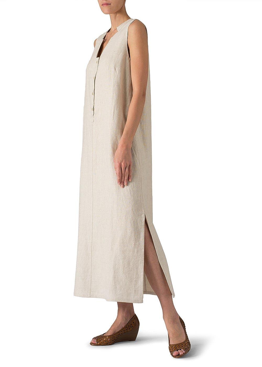 5353db3575 Vivid Linen Sleeveless Slip-on Dress at Amazon Women s Clothing store