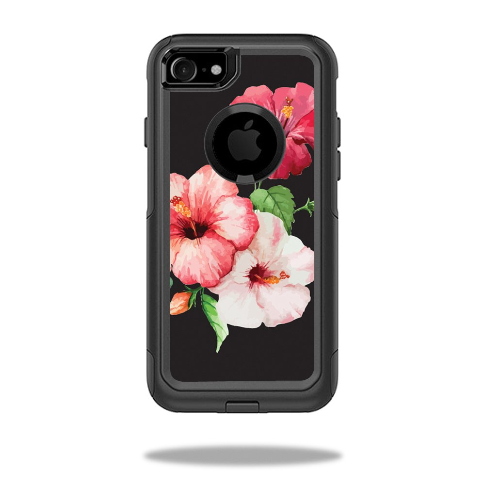 newest 4d437 4f8ce MightySkins Protective Vinyl Skin Decal Compatible with OtterBox Commuter  iPhone 7 Case wrap Cover Sticker Skins Hibiscus
