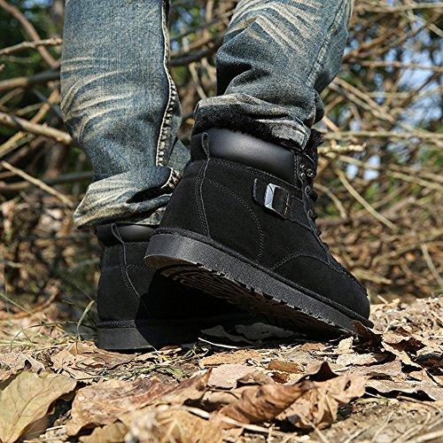 Warm Snow Boots Lace Fashion Shoes SK Lined Up Winter Men Studio Ankle Black Flat gTwtPvqt