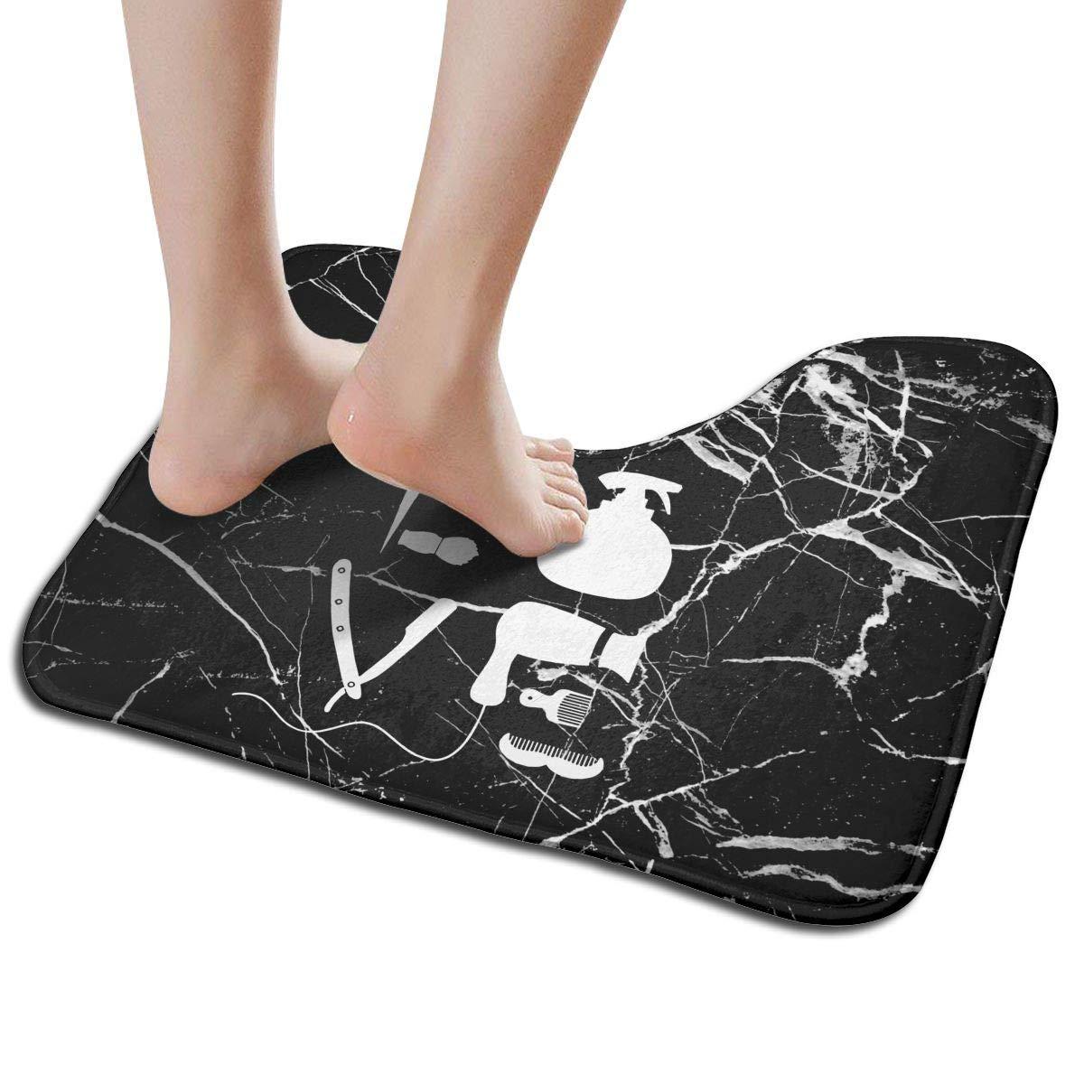Hoklcvd Friseursalon Friseur Liebe U-f/örmige Toilette Boden Teppich Rutschfeste Toilette Teppiche Badezimmer Teppich