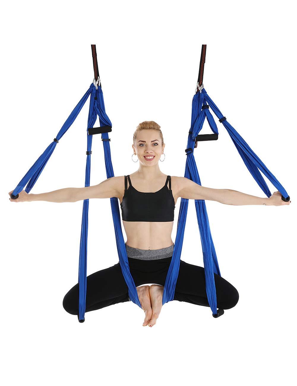 besbomig Pilates Flying Hammock Yoga Swing Aerial Hammock for Bodybuilding Inversion Strap High Strength Gym Indoor Fitness Load