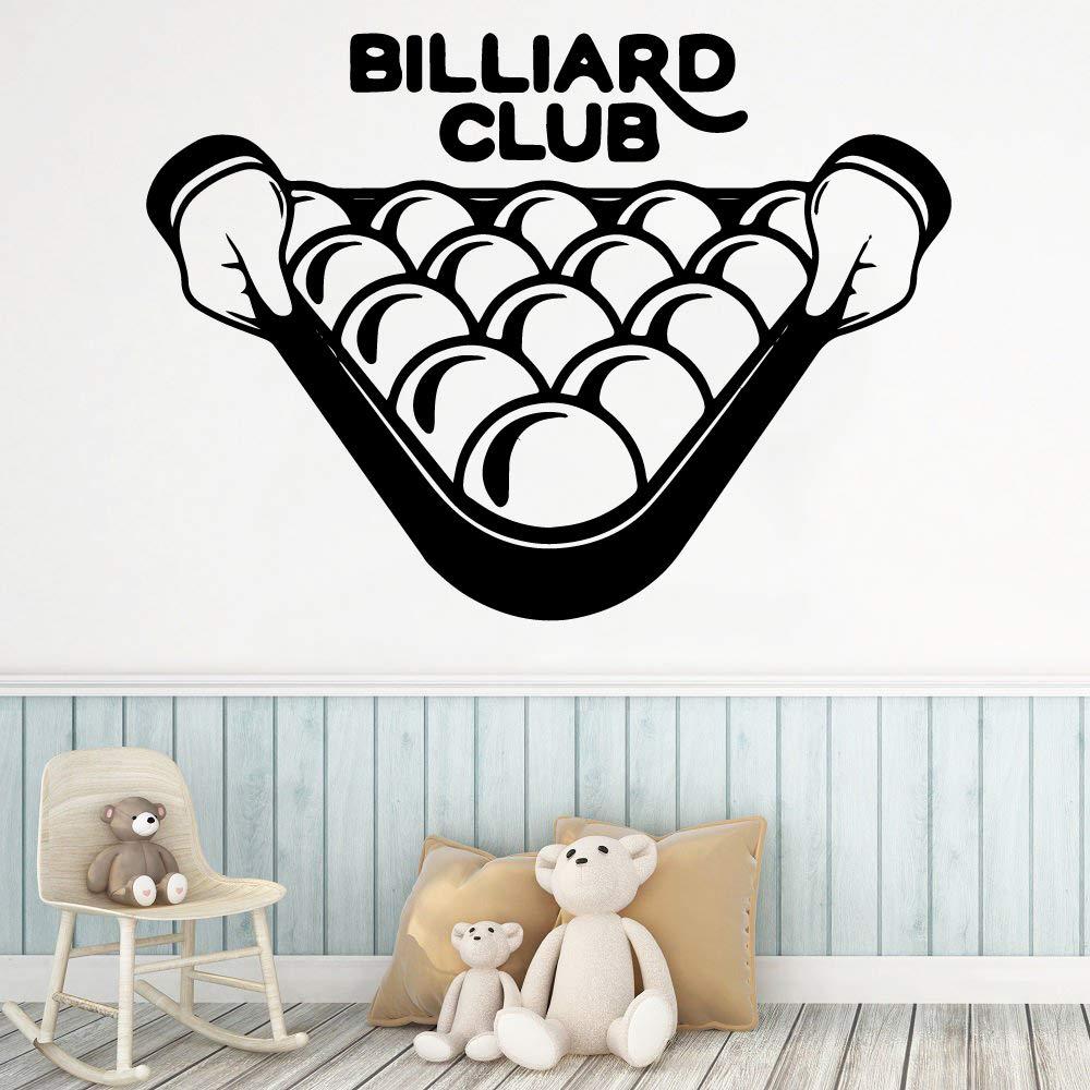 Club de Billar Moderno Extraíble Arte Vinilo Pegatinas de Pared ...