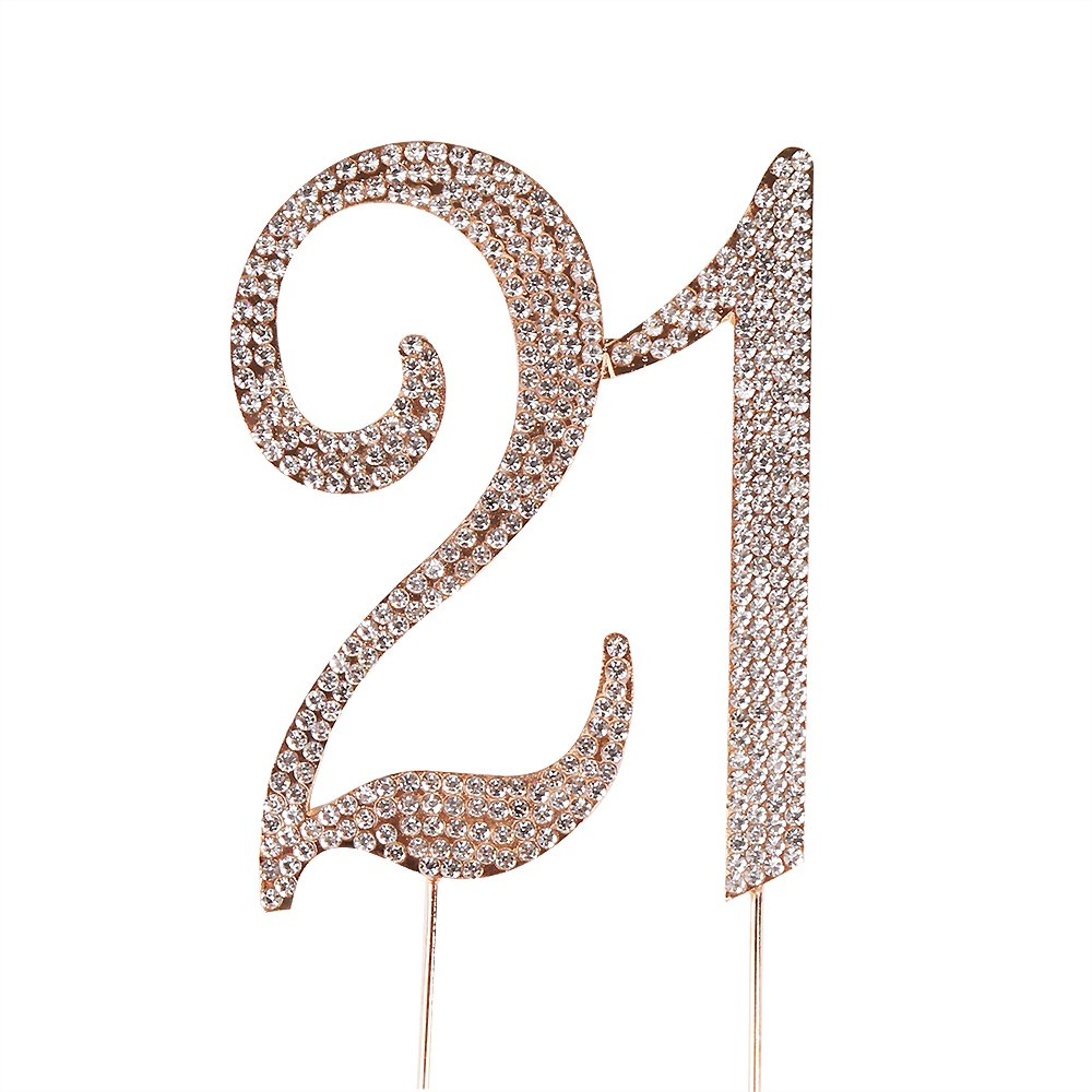PALASASA Premium Sparkly Number70 Crystal Rhinestones 70th Birthday or Anniversary Party Decoration Ideas,Perfect Keepsake 70 Gold