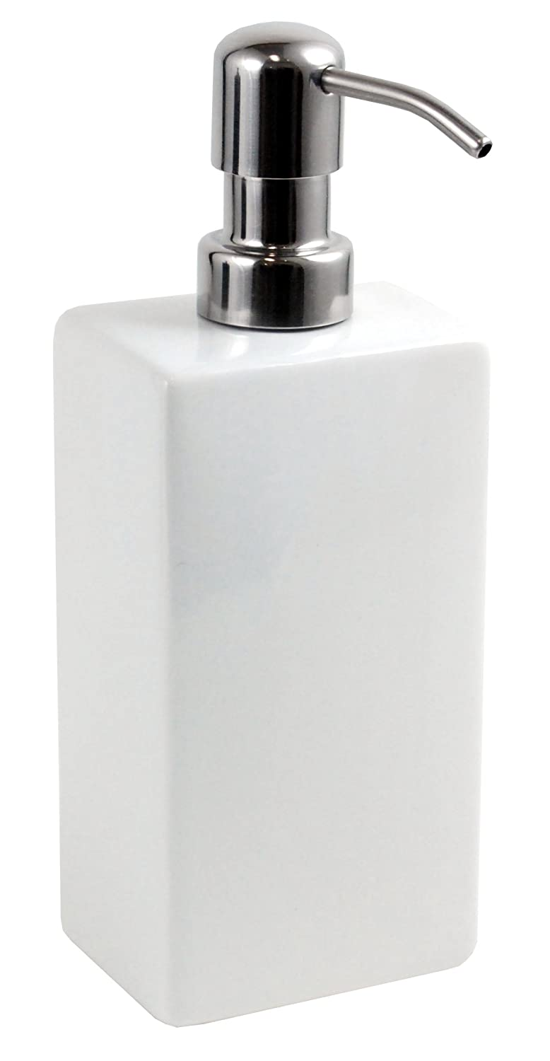 Kiera Grace Ceramic Lotion Dispenser, 8 by 3 by 2.25 Inch, White AZ Home and Gifts HO85143-7INT