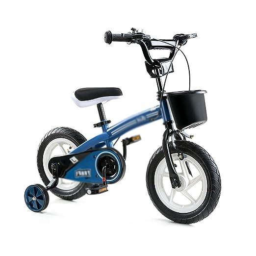 AJZGF Bicicletas niños Freestyle Kids Bike Kids Biker Blue 12 ...