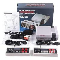 Bonbela Mini-4-knappars TV-spelkonsol retro spelkonsol AV-utgång för NES-konsol integrerat klassiskt videospel