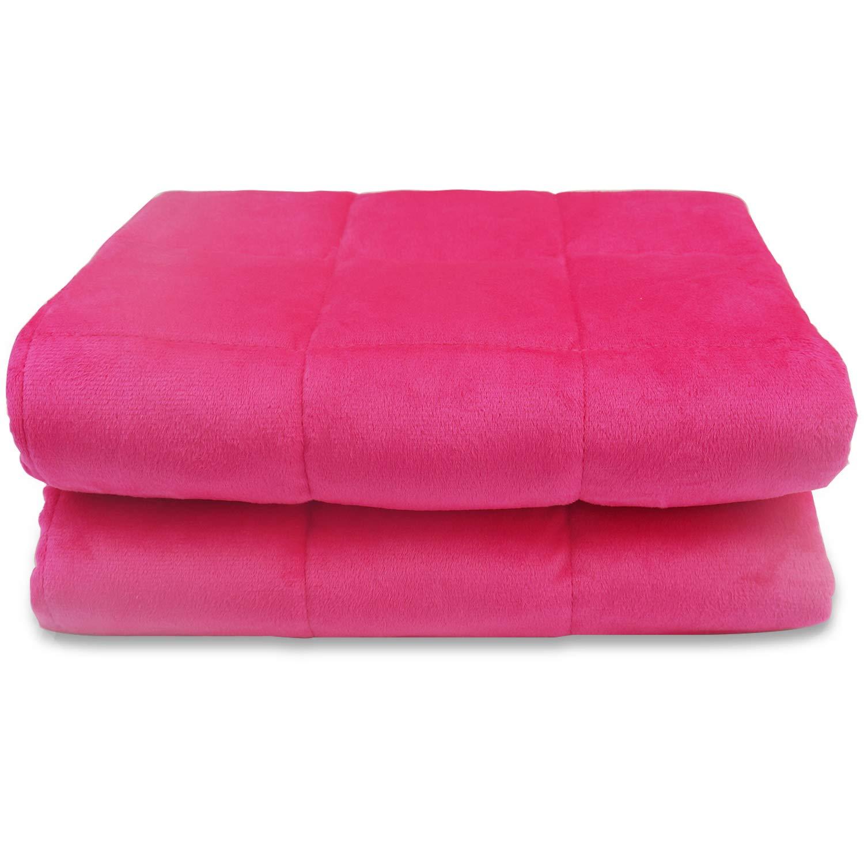 BlueSnail Premium Soft Velet Plush Weighted Blanket for Kids (Rose, 5 lb) by BlueSnail