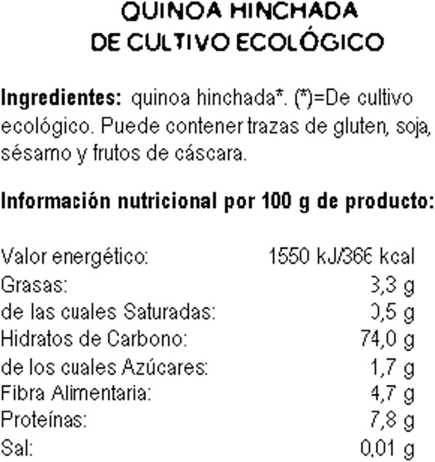 ECOCESTA quinoa hinchada paquete 125 gr: Amazon.es ...