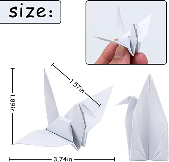 Amazon.com: Parbee 100 unidades de grúas de papel de origami ...