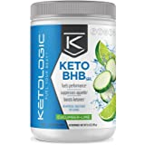 KetoLogic BHB – Keto Supplement – Suppresses Appetite / Increases Energy / Low Carb / Electrolytes / Beta-Hydroxybutyrate Salts – Cucumber-Lime, 30 Servings