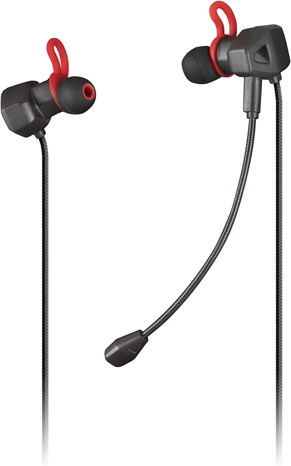 Mars Gaming MIHX Negro, Auriculares In-Ear con Micrófono, PS4/PS5/XBOX/SWITCH/PC