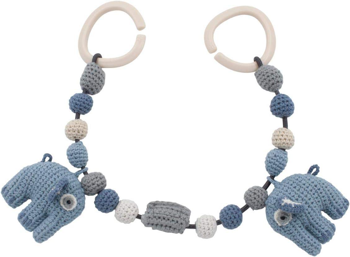 incl. Clips Fanto der Elefant Sebra H/äkel-Kinderwagenkette L/änge 53 cm Powder Blue