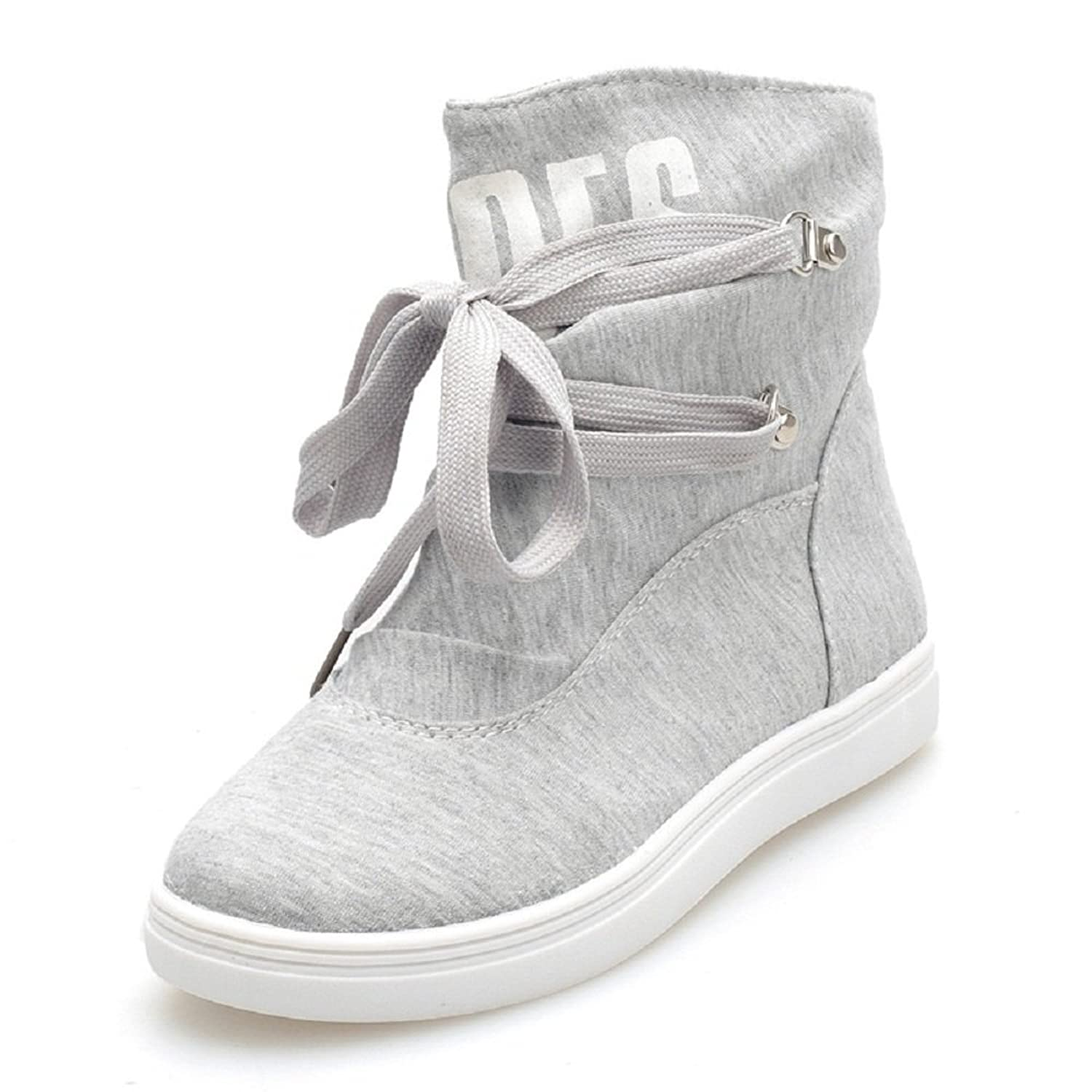 2016 New Hot Sale Fashion Women's High-top Buckle Shoes Casual Ankle Boots Sport Sneakers