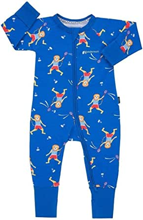 Bonds Baby Wondersuit 2 Way Zipper Sleep/Play Fold Over Feet/Cuffs Footies