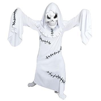 Skeleton Boy Skull Bones Scary Ghoul Fancy Dress Up Halloween Child Costume