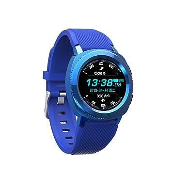 ZZG Reloj inteligente Bluetooth multi-función paso del ritmo cardíaco a prueba de agua impermeable