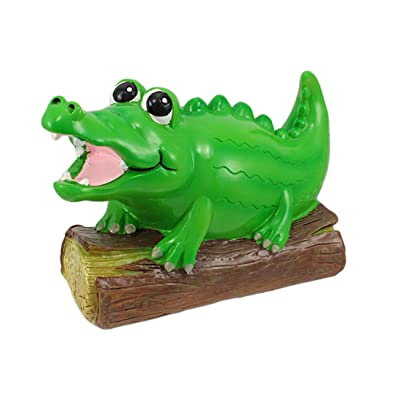 Zeckos Adorable Alligator Coin Bank Piggy Gator: Home & Kitchen