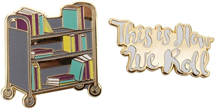 and Bibliophiles Out of Print Literary and Book-Themed Enamel Pin Set for Book Lovers Readers