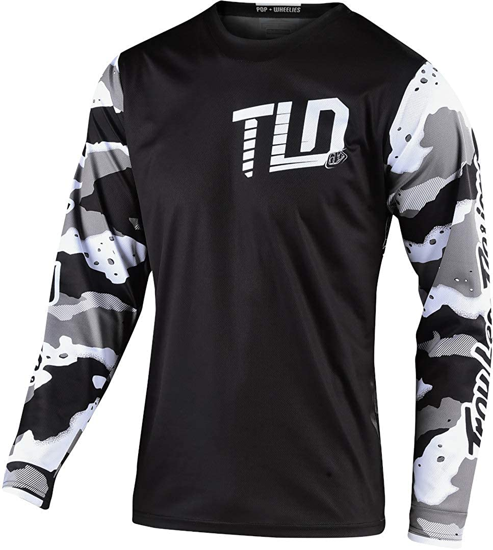 Troy Lee Designs Gp Camo Motocross Jersey Schwarz Weiß Grau Xxl Bekleidung