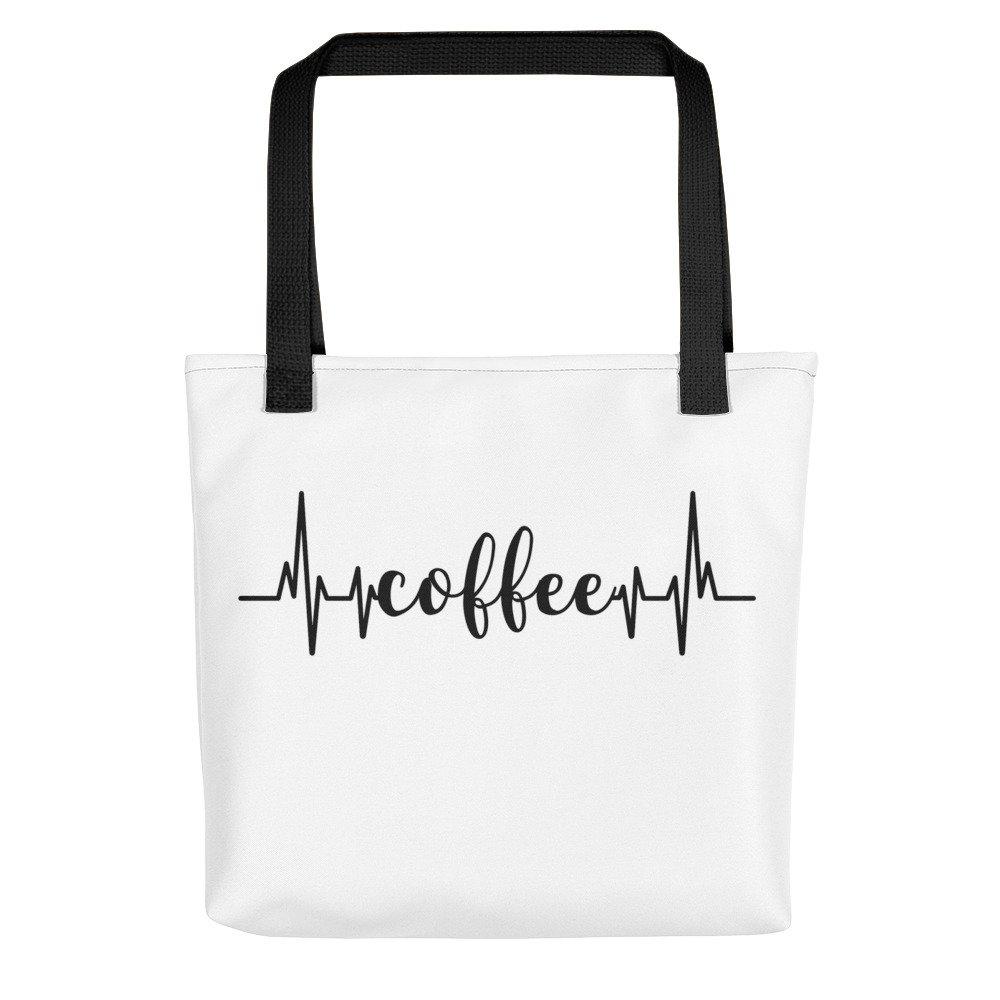 City Street Prints Coffee Heartbeat - Coffee Lovers Tote Bag