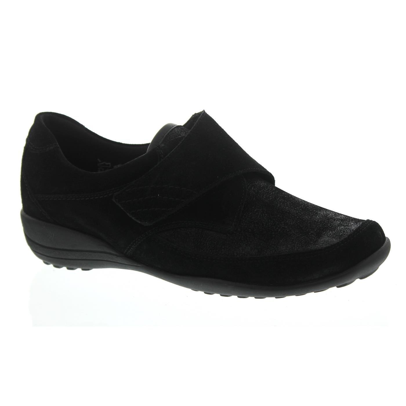 Waldläufer Mujeres Zapatos Planos Schwarz Negro, (Schwarz) K01304-309-001 38|schwarz
