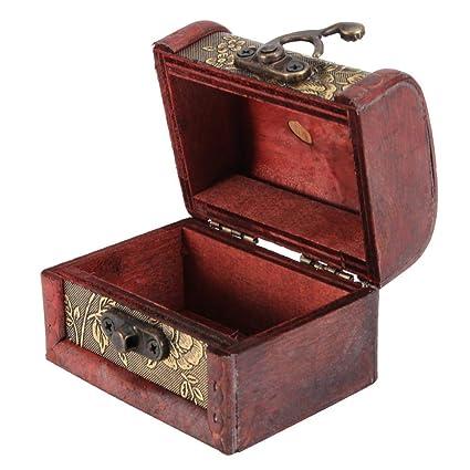 Amazon.com: Wal - Caja de almacenamiento de madera con ...