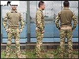 Men Military Airsoft Paintball BDU Uniform Combat Gen2 Tactical Uniform Elbow Knee Pads AT/FG