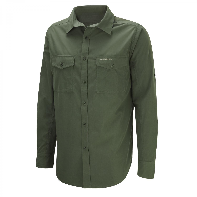 Craghoppers Men's Kiwi Long Sleeve Shirt Cedar, Large