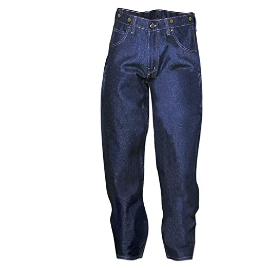 1950s Men's Clothing Prison Blues Work Jeans  AT vintagedancer.com