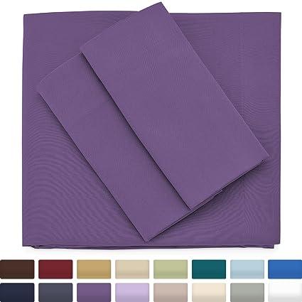 Genial Premium Bamboo Bed Sheets   Full Size, Purple Sheet Set   Deep Pocket    Ultra