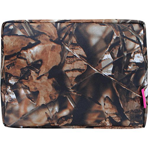 N. Gil Large Travel Cosmetic Pouch Bag 2 (Camo Brown) (Medium Brown Fabric Footwear)