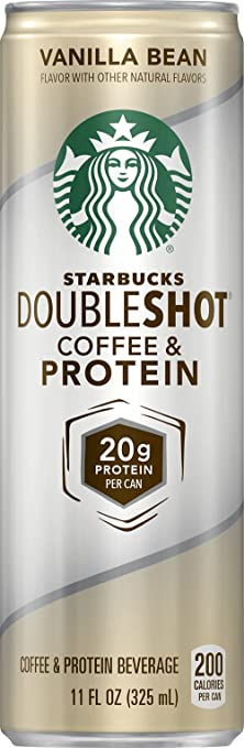 Review Starbucks Doubleshot Coffee and Protein, Vanilla Bean, 11 Ounce (12 Cans)