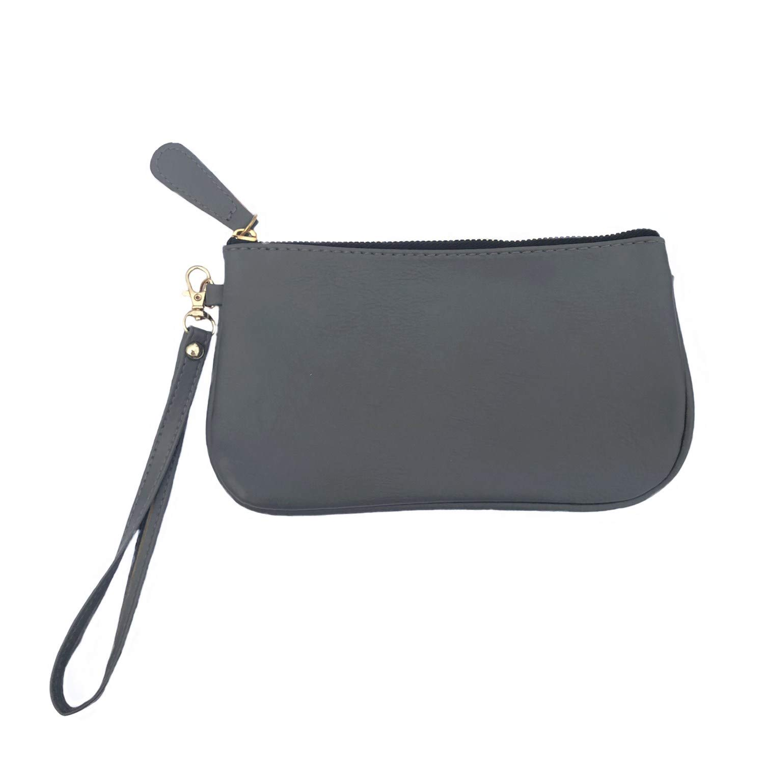 MONOBLANKS Leather Wristlet Wallet Small Phone Purse Handbag (Charcoal) by MONOBLANKS