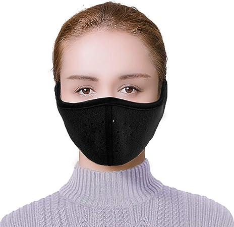 Warmer Windproof Earmuff Black Fleece Warm Mouth Women Mask Cotton Monique Face Ear Winter Nose Men