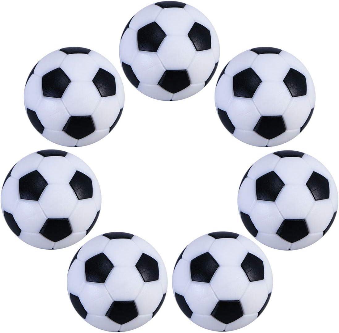 UEETEK 6pcs 32mm mesa Mini pelotas de fútbol para actividades ...