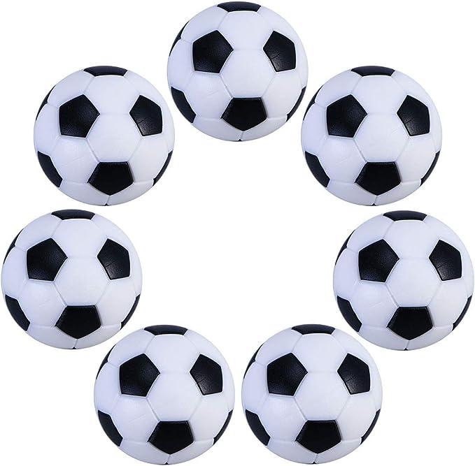 UEETEK 6pcs 32mm mesa Mini pelotas de fútbol para actividades deportivas: Amazon.es: Jardín
