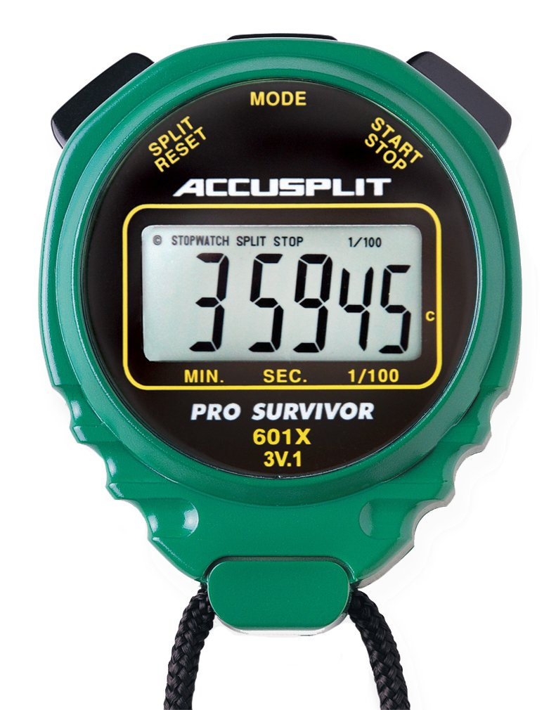 ACCUSPLIT Pro Survivor - A601X Stopwatch, Clock, Extra Large Display (Green)