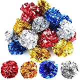 YGDZ Crinkle Balls Cat Toys, 20 Pack Original Mylar Crinkle Balls, Shiny Kitty Cat Toys Glitter Balls, Interesting Crinkly Sounds